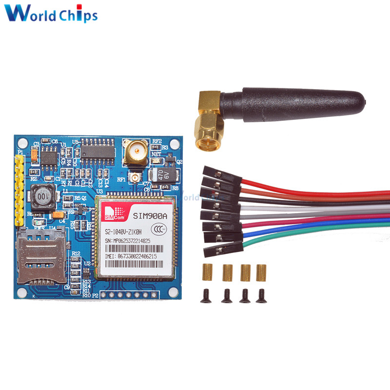 1PCS SIM900A 1800/1900 MHz Wireless Extension Module GSM GPRS Board + Antenna1PCS SIM900A 1800/1900 MHz Wireless Extension Module GSM GPRS Board + Antenna