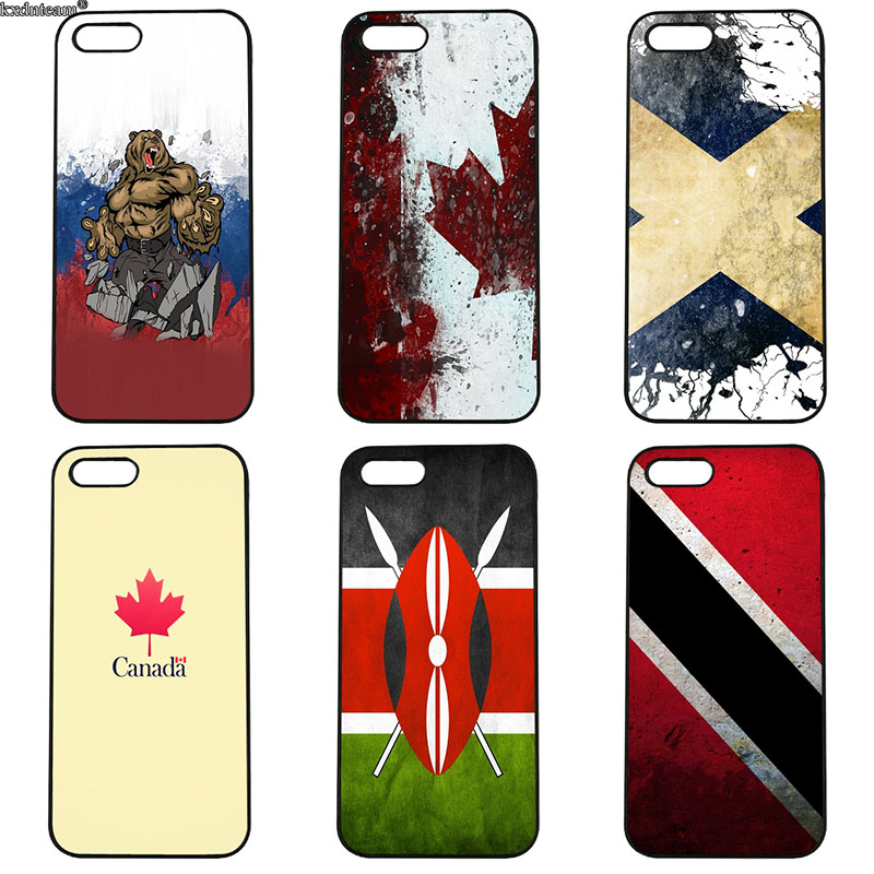 Hot Sale Country Flags Mobile Phone Case Hard PC Plastic Cover for iphone 8 7 6 6S Plus X 5S 5C 5 SE 4 4S iPod Touch 4 5 6 Shell