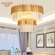 Modern Luxury Golden Chandeliers Hanging Light Crystal Chandelier Lighting Fixture for Home Hotel Restaurant KTV Decor traditional crystal chandeliers lighting gold palace light luxury hotel lamp for restaurant diameter40cm guaranteed100% 9052