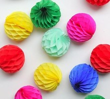 20pcs 5cm+8cm Honeycomb Flowers Paper Balls Wedding Decoration Birthday Baby Shower Party Decor Supplies Festival