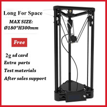 2016 New Large Printing Size Kossel Delta Impresora 3D Printer Pulley Version DIY Kit Auto Leveling 3D Metal Structure Printer