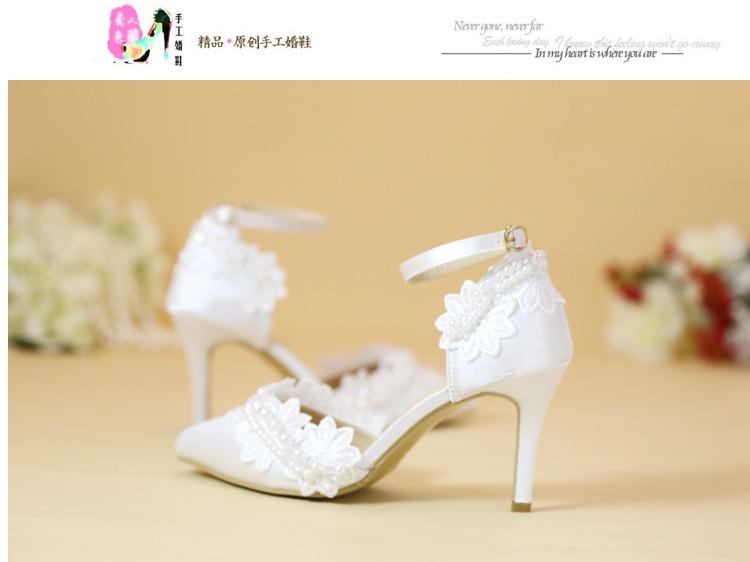 fb2e81c00db9 Crystal Shoes Cinderella Women Heels For Evening Party Glittering Round Toe  Custom Silver Rhinestone Wedding Pumps Size 9USD 32.52-40.17 pair