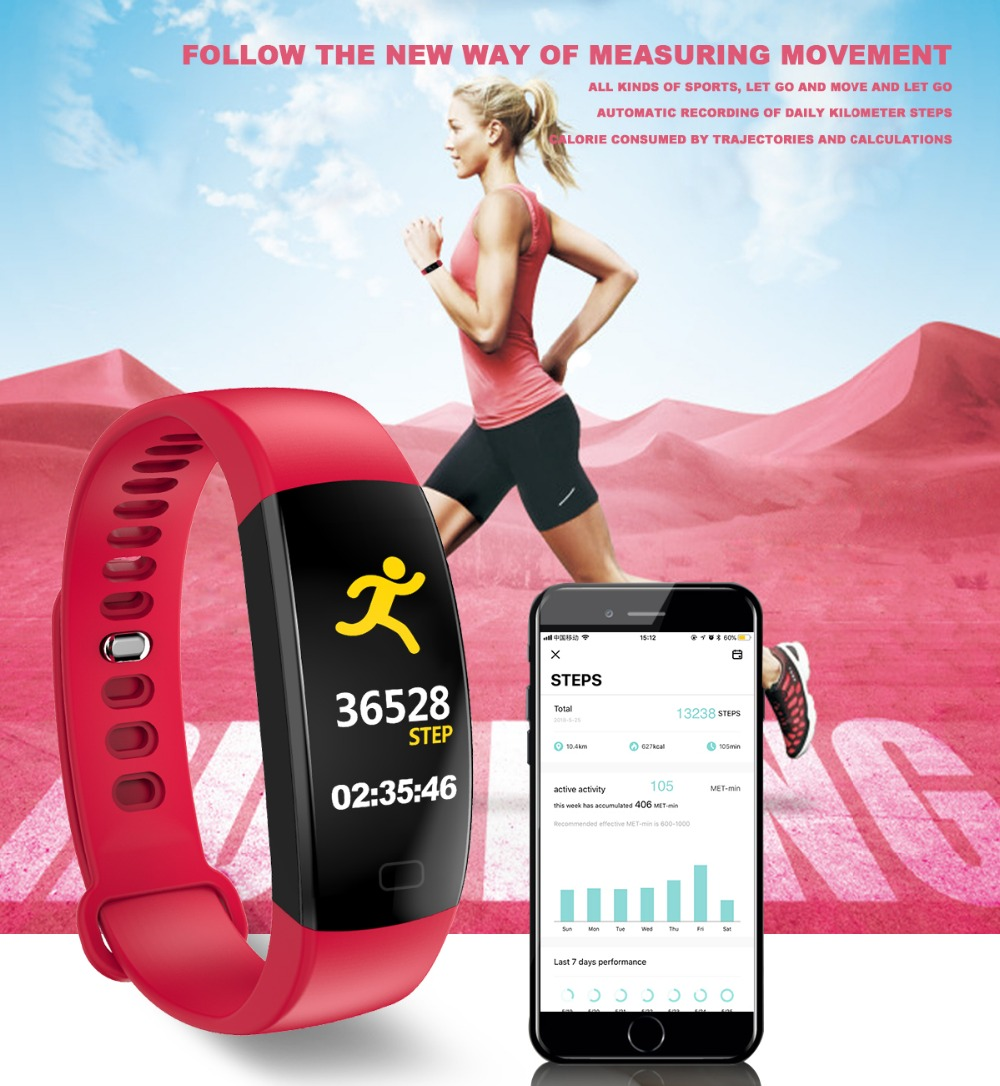 Smart Wristband 2018 Bracelet F64 Smartband gps waterproof sleep monitor Fitness Bracelet Smart Watch Call Alarm For iOS Android (5)