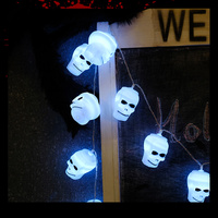 Halloween SkeletonLED String Lights AA Battery Operated Holiday Lighting 2M 20 Leds Halloween Party Props Decoration