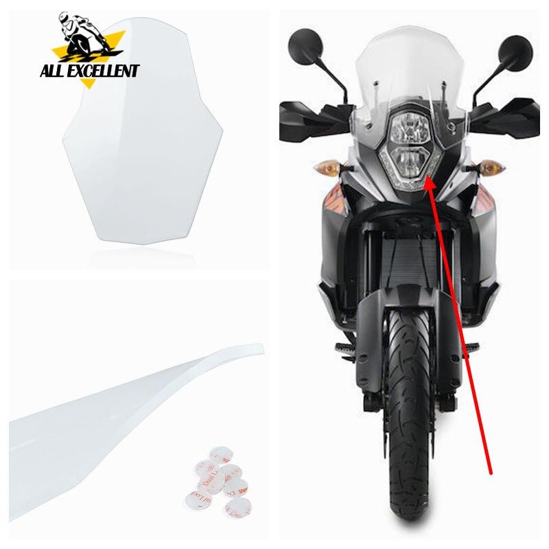Transparent Headlight Lens Guard Cover Protector Screen Guard Shield For KTM 1050 1190 ADV 1290 Super Adventure 15-16 2013 2014