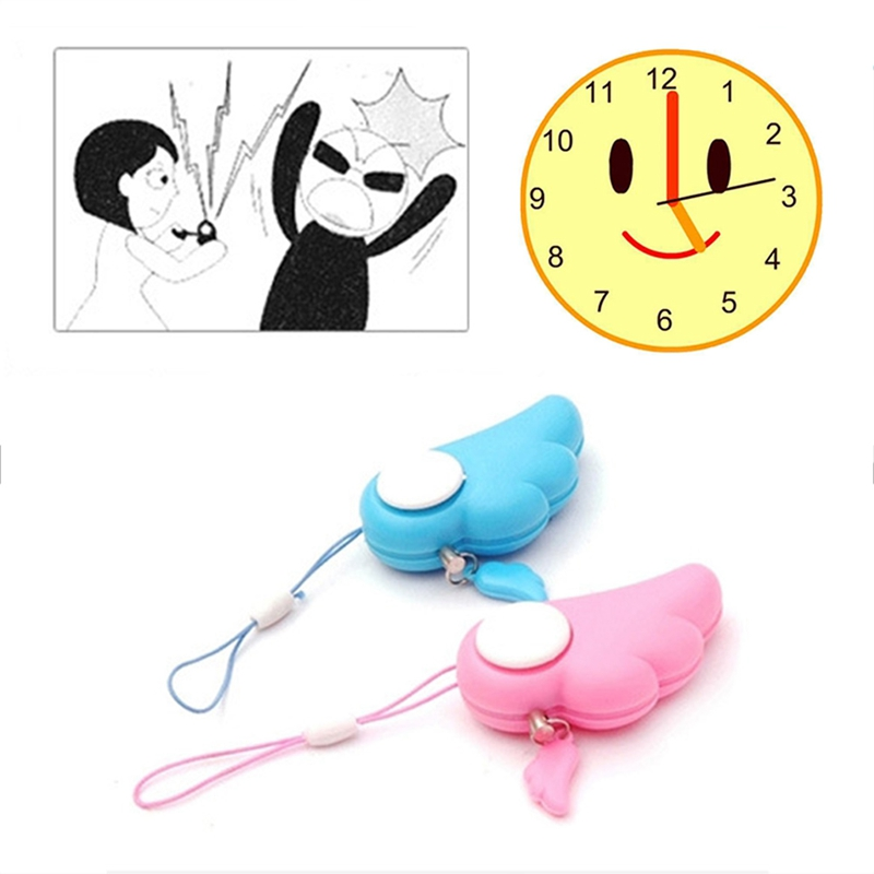 Self Defence Keychain Alarm Personal Protection Women Security  Alarm 90dB Loud Self Defense Supplies Emergency Alarm