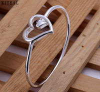Free shipping 925 sterling silver jewelry bangle fine fashion bracelet bangle top quality wholesale and retail SMTB018