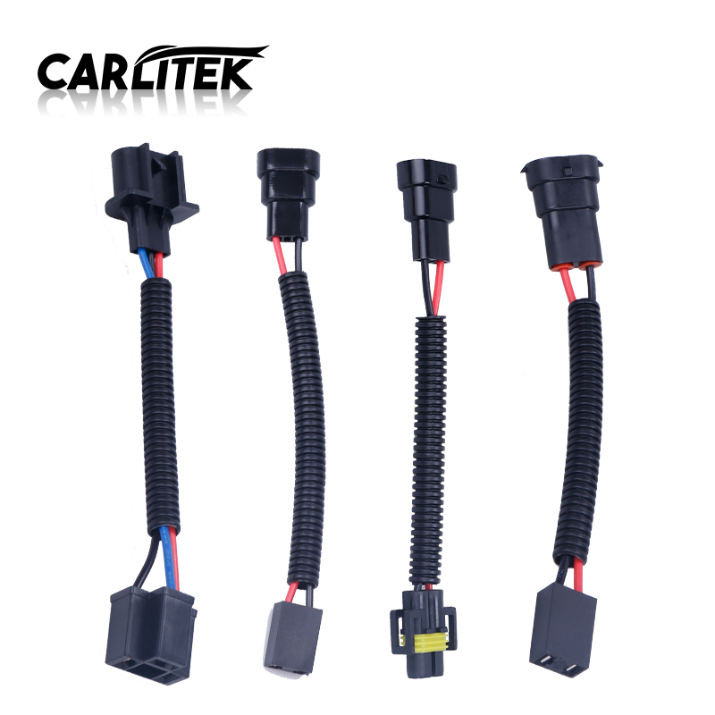 CARLitek wires for lighting cars <font><b>h4</b></font> led h11 bulb h7 h13 9007 9006 headlight <font><b>lamp</b></font> <font><b>socket</b></font> wire adapter connector for transfer image