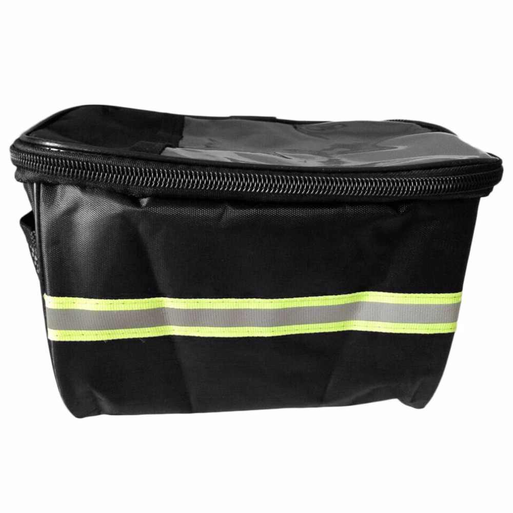 20 Inch Large Capacity Polyester Bike Bicycle Front Basket Durable Waterproof Tube Handlebar Bag Outdoor Sport Accessories Hot