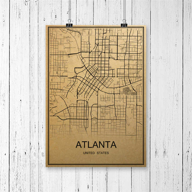 """Винтажный Ретро-плакат """"Карта мира"""", крафты, бумага, художественное настенное изображение, принт, картина для дома, гостиной, спальни, декор для кафе-бара"""