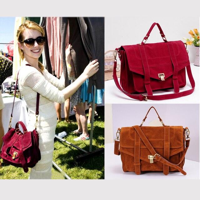 Women Handbag scrub velvet  PU Leather bags women messenger bag Fashion emma roberts Vintage Shoulder Crossbody Bags