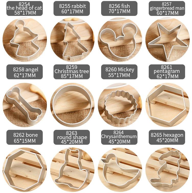 BAKEST 30 шт./лот маленький алюминиевый сплав формочки для печенья нож для бисквита Muilt формы на выбор