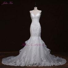 Liyuke kristal Mewah mermaid wedding dress Backless bridal vestido de noiva jubah de mariage vestido de noiva curto