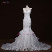 Liyuke Luxurious Crystals Mermaid Wedding Dress Backless Bridal Vestido De Noiva Robe De Mariage Vestido De