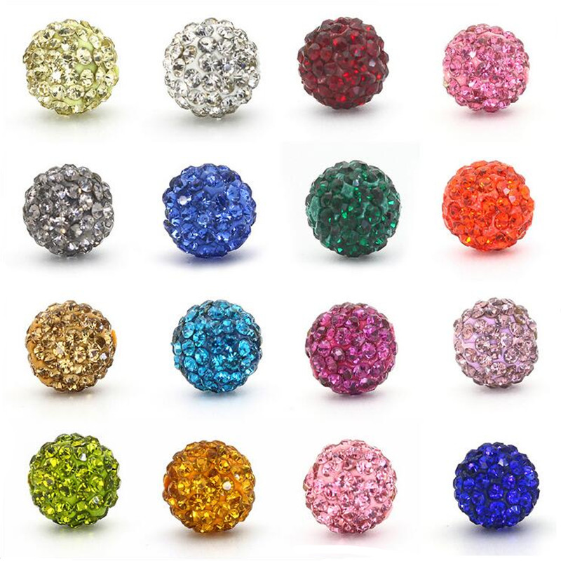50pcs 10mm 33colors Shamballa Beads Crystal Disco Ball Beads Shambhala Spacer Beads Shamballa Bracelet Crystal Clay Beads 100% High Quality Materials Beads