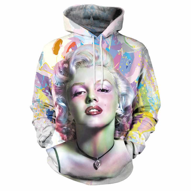 2969c22d7ad6 SEXYBODY 3D Hoodies Marilyn Monroe Sweatshirt Men Women Fashion Style Funny  Harajuku Hoody Casual Outwear treetwear