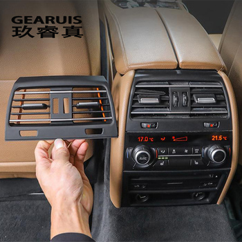 Car styling Interior Back row Air Conditioner Outlet Decoration Cover For BMW 7 Series F01 F02 Material improve Auto Accessories