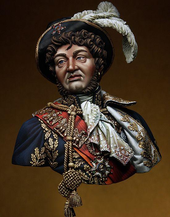 9f2c41ce5 1 10 Joachim Murat homem busto brinquedo soldado Resina Modelo Kit  Miniatura unassembly Sem Pintura