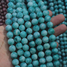 processed larimar/Copper Pectolite beads spacer stone beads DIY loose beads for jewelry making strand 15″ free shipping