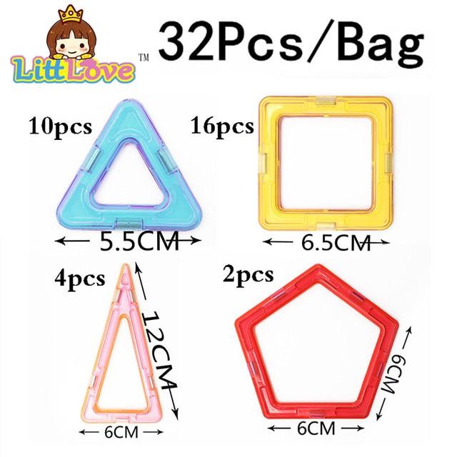 32 PCS Standard Size Magnetic Building Blocks Mode...