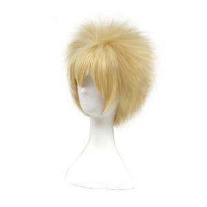 Image 2 - L email wig New My Hero Academia Cosplay Wigs Bakugou Katsuki 30cm Yellow Short Men Synthetic Hair Perucas Cosplay Wig