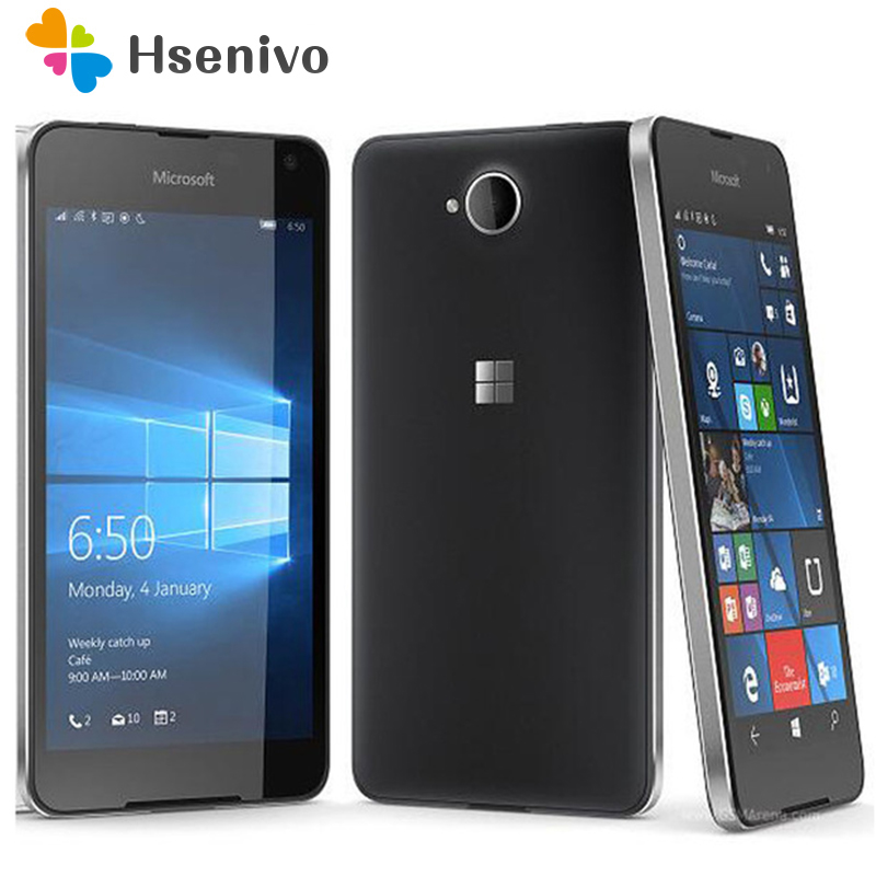 650 Original Microsoft Lumia 650 Quad-core 16GB ROM 1GB RAM Mobile Phone 4G WIFI GPS 8MP Camera Nokia Cell Phone Free Shipping