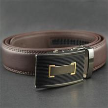 NEW men's leather luxury business Automatic buckle belt