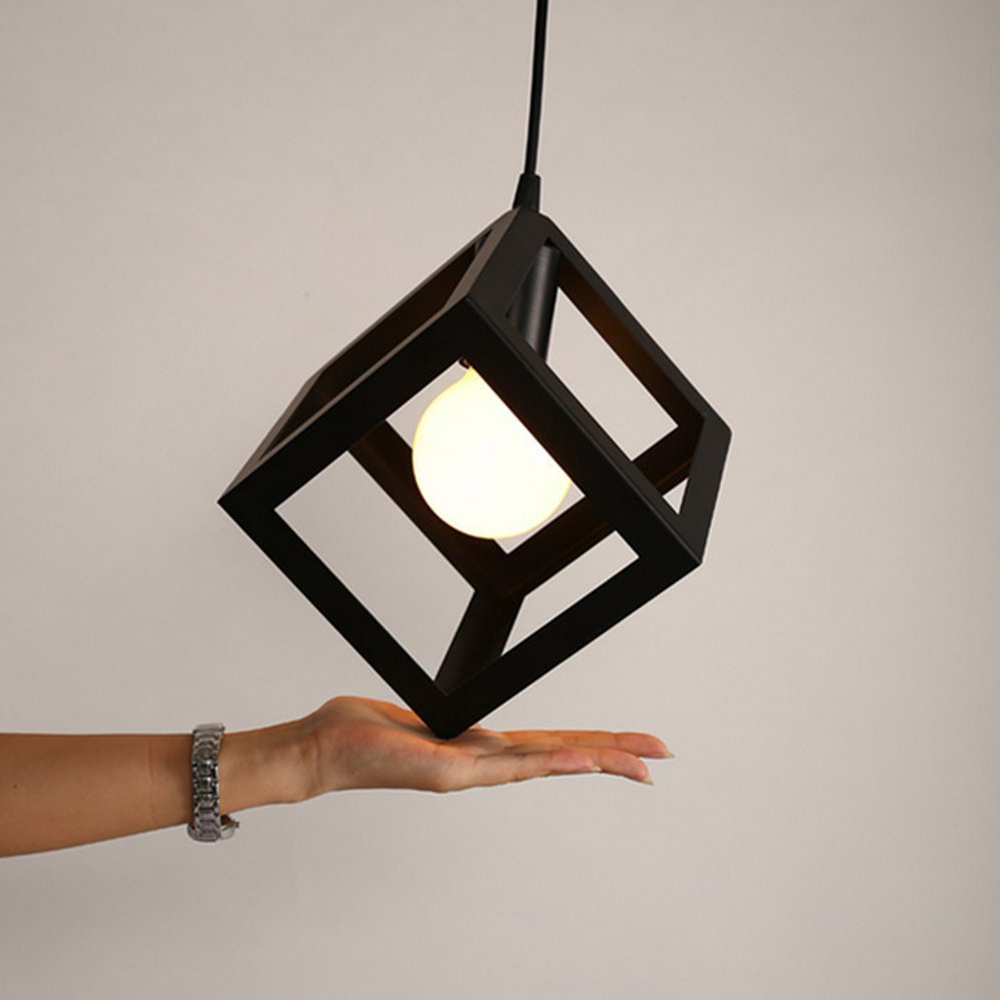 WISH-Lighting Ceiling Lamp Shade with A Suspension Holder Industrial Metal Adjustable Pendant Lamps Perfect for Restaurant wish for a fish