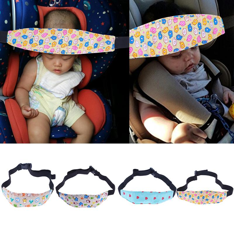 Baby Stroller Safety Baby Seat Cute Safety Baby Kids Car Seat Sleep Nap Aid Head Band Support Holder Belt Pad Strap Random Color
