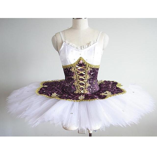 8c427e79f € 395.59 |Coppelia profesional Ballet tutú blanco púrpura mujeres Ballet  escenario disfraz adulto Ballet clásico actuación tutú actuación ...