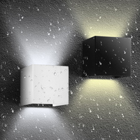 2pcs Lot IP65 Waterproof Led Wall Sconce 10 10 10cm White ABS Up Down Light Outdoor
