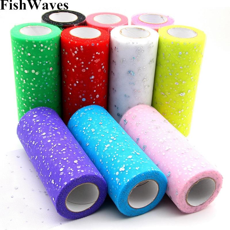 25 yards 15cm Tulle Roll Fabric Spool Tutu Wedding Decoration Laser DIY Crafts