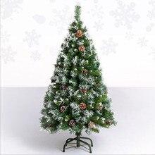 НОВАЯ РОЖДЕСТВЕНСКАЯ ЕЛКА 120 см/150 см/180 см/210 см Снежинка шишка Рождественская елка Роскошные зашифрованные автоматическая дерево Navidad для дома
