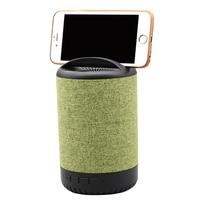 Oryginalny Tkaniny Desktop Audio Siatki Cylinder Mini Przenośne głośniki Bezprzewodowe Bluetooth Głośnik Z Telefonu komórkowego Stoiska