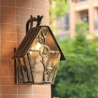 HAWBOIRR LED European style simple outdoor creative house shape waterproof retro corridor lamp residential street wall lamp
