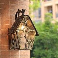 HAWBOIRR LED European style simple outdoor creative house shape waterproof retro corridor lamp residential street wall lamp
