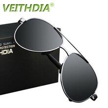 2017 veithdia uv400 пилот юрт солнцезащитные очки мужчины поляризованных солнцезащитных очков марка дизайн логотипа вождения очки очки óculos де золь...(China (Mainland))