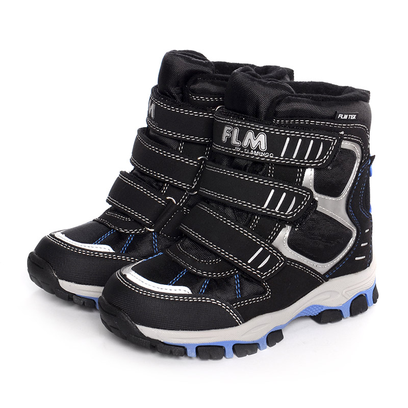 FLAMINGO Waterproof Winter Wool Warm High Quality Kids Shoes Anti-slip Orthotic Arch Size 26-30 Snow Boots for Boy W6YC021 men impression winter warm boots women high top sports outdoor running shoes navy blue trends athletic trainers walking sneakers