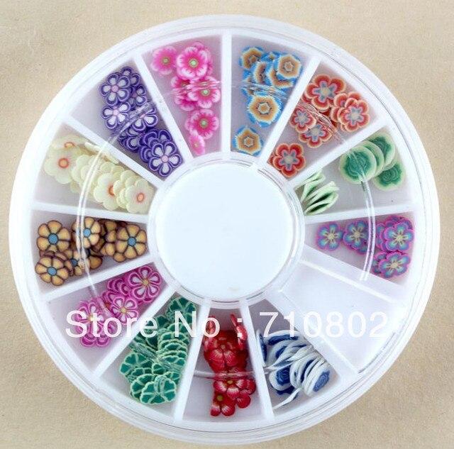 2013 nueva fimo decoración de uñas flawer