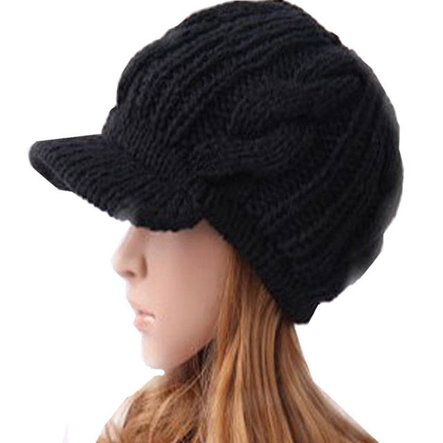 Men Women Unisex Boy Girl Slouchy Cabled Pattern Knit Beanie Crochet