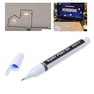 Image 1 - İletken mürekkep kalem elektronik devre çekme anında büyülü kalem devre DIY Maker öğrenci çocuklar eğitim