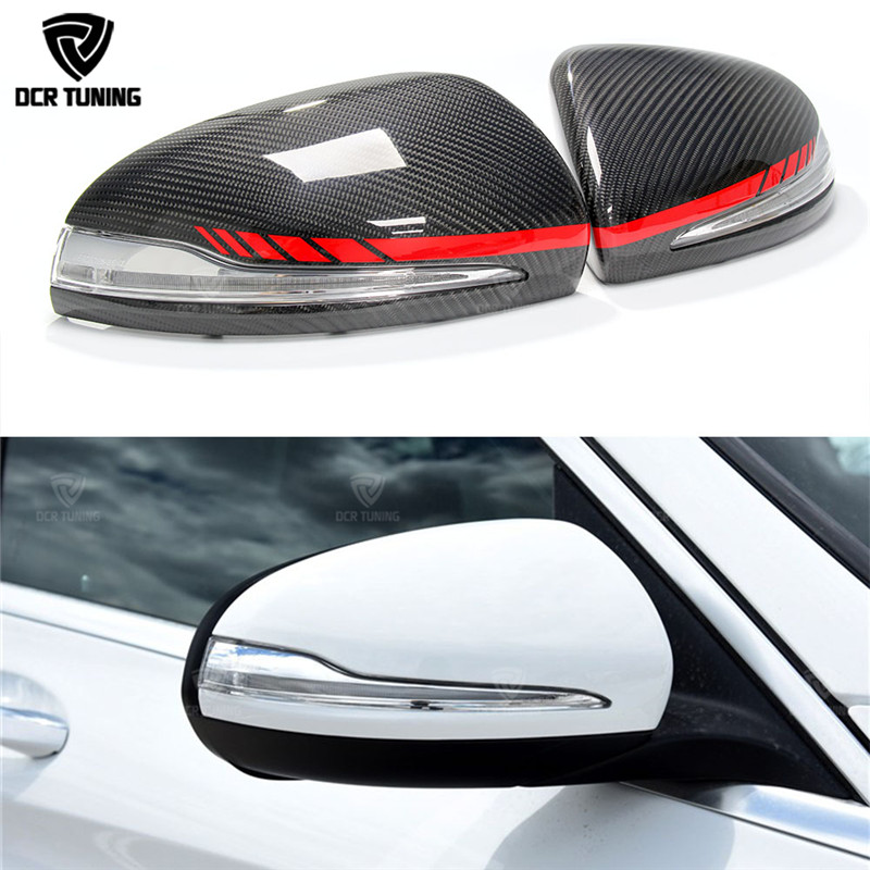 Carbon Fiber Mirror cover For Mercedes W205 W222 W213 W238 X205 for Benz C S GLC