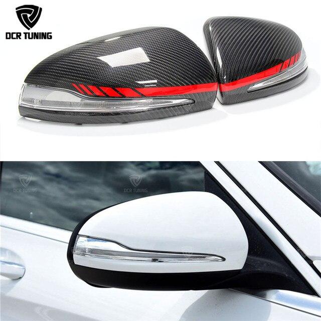 Fiber De carbone couverture de Miroir Pour Mercedes W205 W222 W213 W238 X205 Benz C S GLC E Classe AMG 1:1 Remplacement style AMG Seulement LHD
