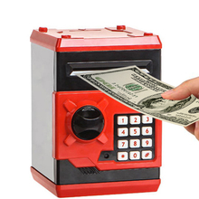 Electronic Piggy Bank ATM Password Money Box Cash Coins Saving Safe Automatic Deposit Banknote Festival Gift