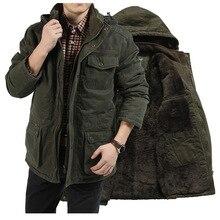 2020 Winter Jacket Men M 7XL 8X Thicke Velvet Parkas Casual Fleece Warm Coat Plus Size Cotton Padded Hooded Military Jackets