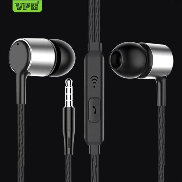 VPB S24 słuchawki sportowe przewodowe Super Bass 3.5mm Crack słuchawki wkładka douszna z mikrofonem bez użycia rąk do Samsung