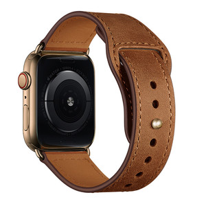 Image 2 - Retro leather band watches men Genuine For Apple Watch Band 44mm 40mm For Apple WatchBands 42mm 38mm Series 4 3 2 1 Watch Strap