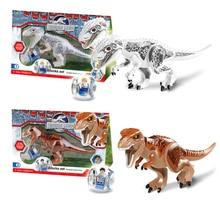 Купить с кэшбэком Legoings jurassic World Park Dinosaur world Figures Tyrannosaurs Rex Building Blocks baby Toys For Children Marvel BKX32