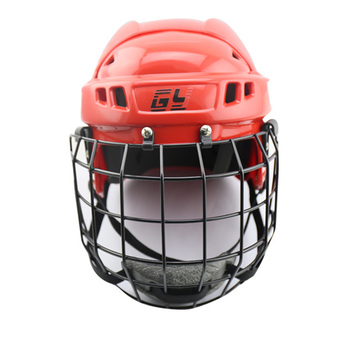 CE Certificate Hockey Face Mask Red Hockey Helmet for Player 2017 Size L for Men/Women Adult