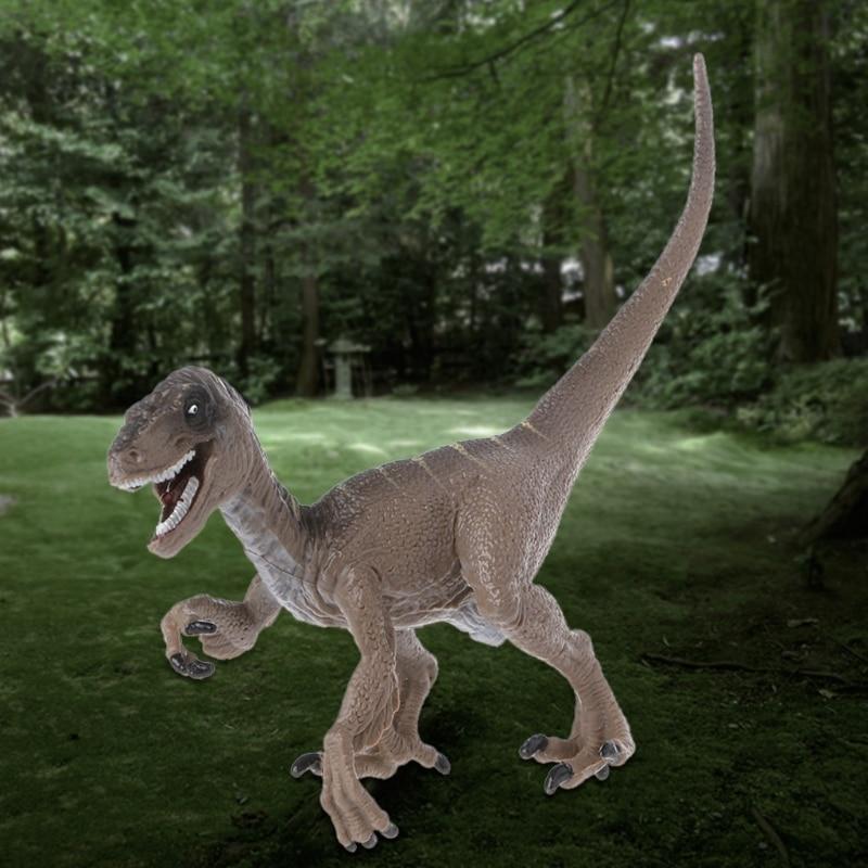 Raptor Dinosaur Action Figure Toys Hand Puppet Kids Educational Model-m15